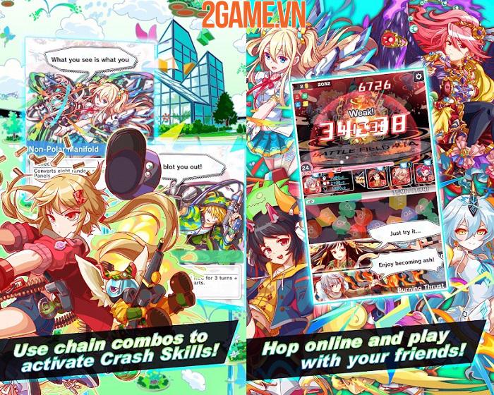 Crash Fever - Game nhập vai kết hợp các khối ma pháp đầy màu sắc 1