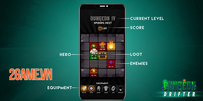 Dungeon Drifter - Game roguelike có thiết kế map lưới ô vuông 5x5 2