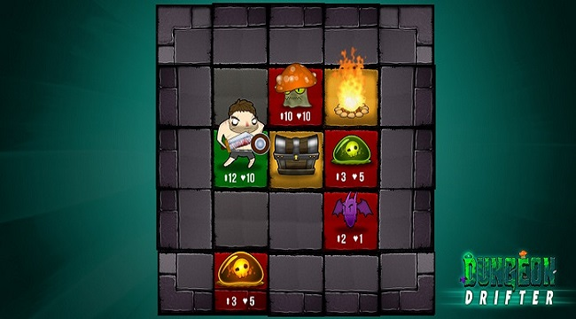 Dungeon Drifter – Game roguelike có thiết kế map lưới ô vuông 5×5