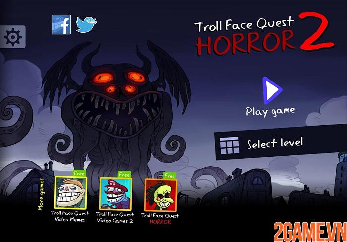Troll Face Quest Horror 2 - Cười banh nóc với game kinh dị độc lạ 1