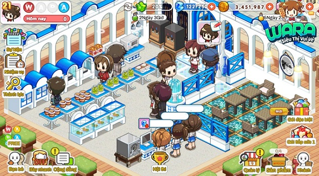 WARA Siêu Thị Vui Vẻ: Game kinh doanh cửa hàng tiện lợi độc đáo