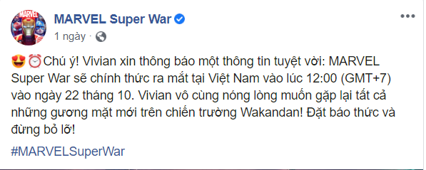 MARVEL Super War VN xác nhận ngày ra mắt chính thức, độc lập với bản quốc tế 2