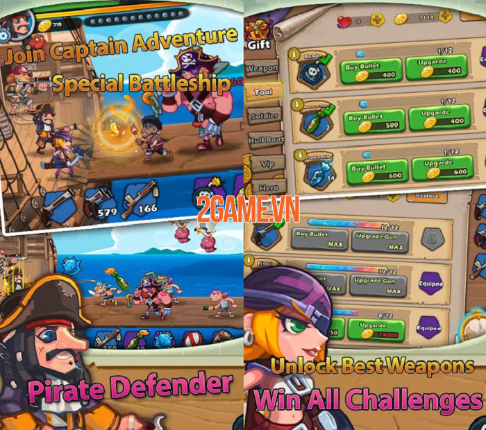 Pirate Defender - Đại hải chiến và trở thành hải tặc lừng danh thiên hạ 1