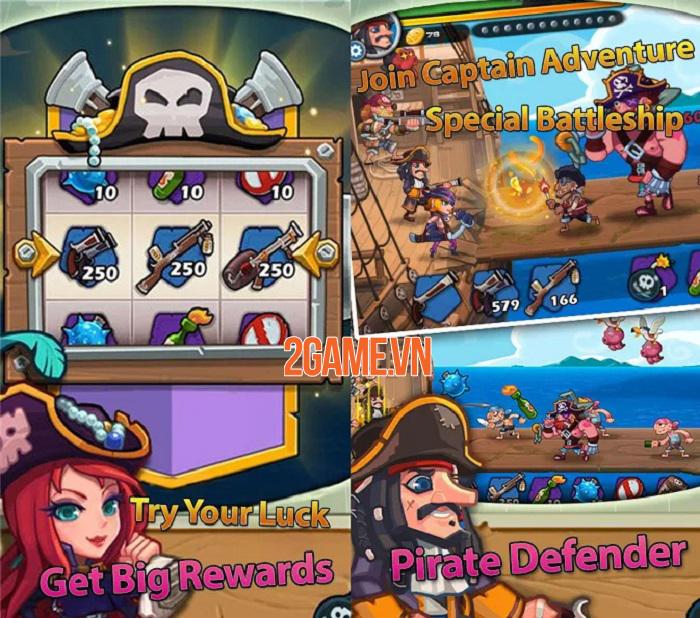 Pirate Defender - Đại hải chiến và trở thành hải tặc lừng danh thiên hạ 3