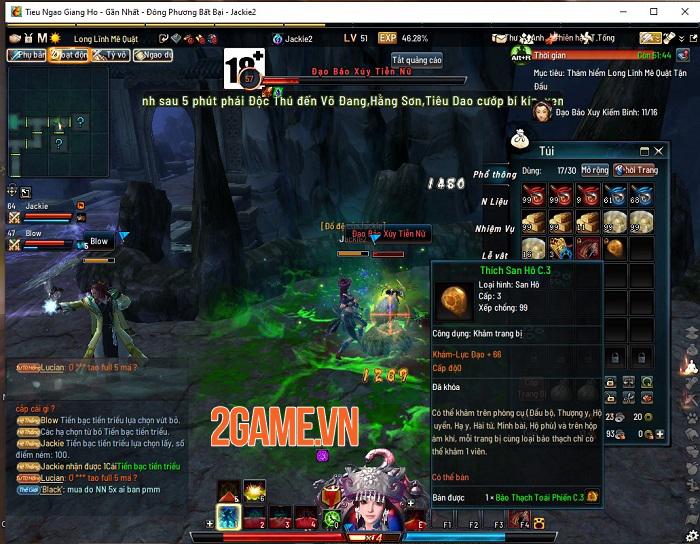 Những tính năng nổi bật thu hút game thủ Tiếu Ngạo Giang Hồ Online 5