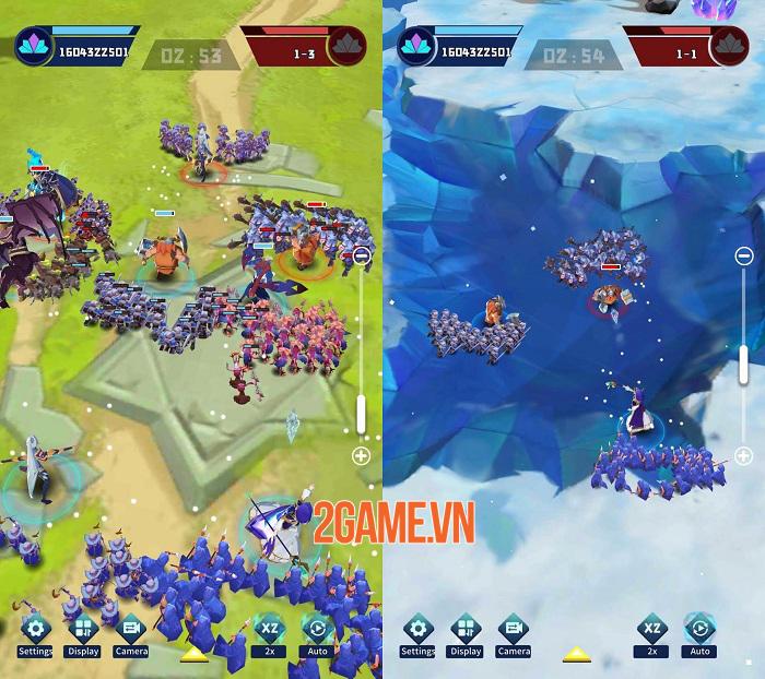 Hero Rush - Game RTS có lối chơi cổ điển và phong cách đồ họa low poly art 1