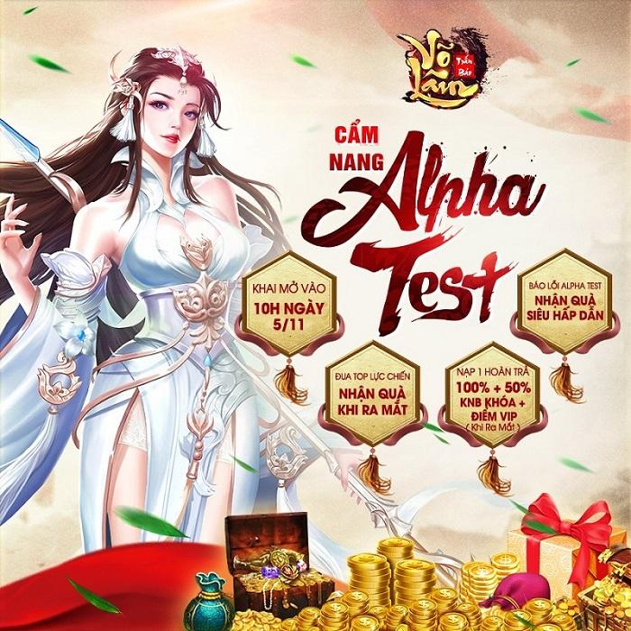 Võ Lâm Trấn Bảo tặng 200 giftcode mừng Alpha Test 1