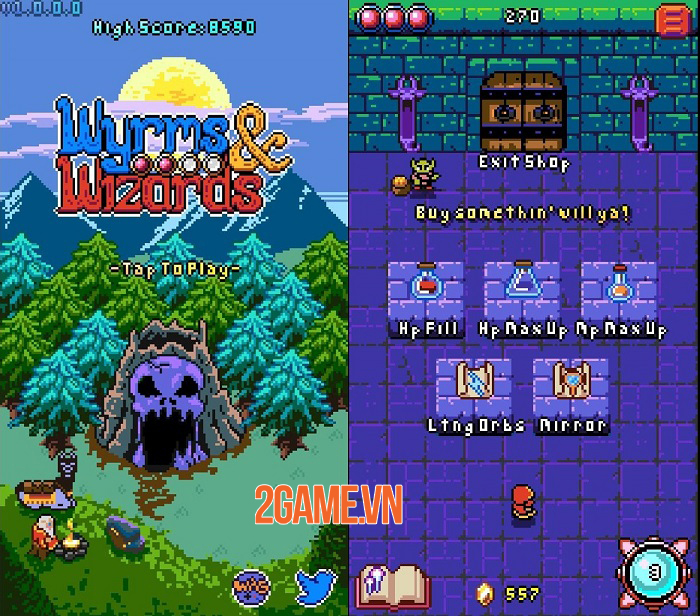 Wyrms And Wizards - Game roguelike shmup bối cảnh giả tưởng ra mắt cho Android 1