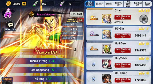 Game thủ thỏa sức gia tăng sức mạnh đội hình trong Chiến Binh Tối Thượng