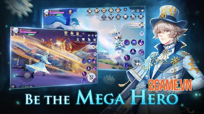 Mega Heroes - Tận hưởng cuộc phiêu lưu thú vị với đồ họa anime tuyệt đẹp 1