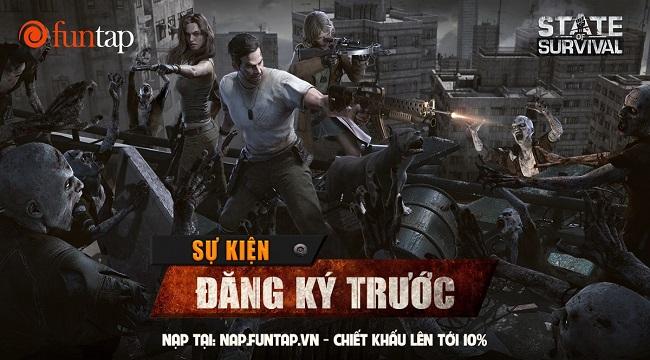 Game thủ Việt háo hức đăng kí sớm khóa học sinh tồn thảm họa zombie State of Survival