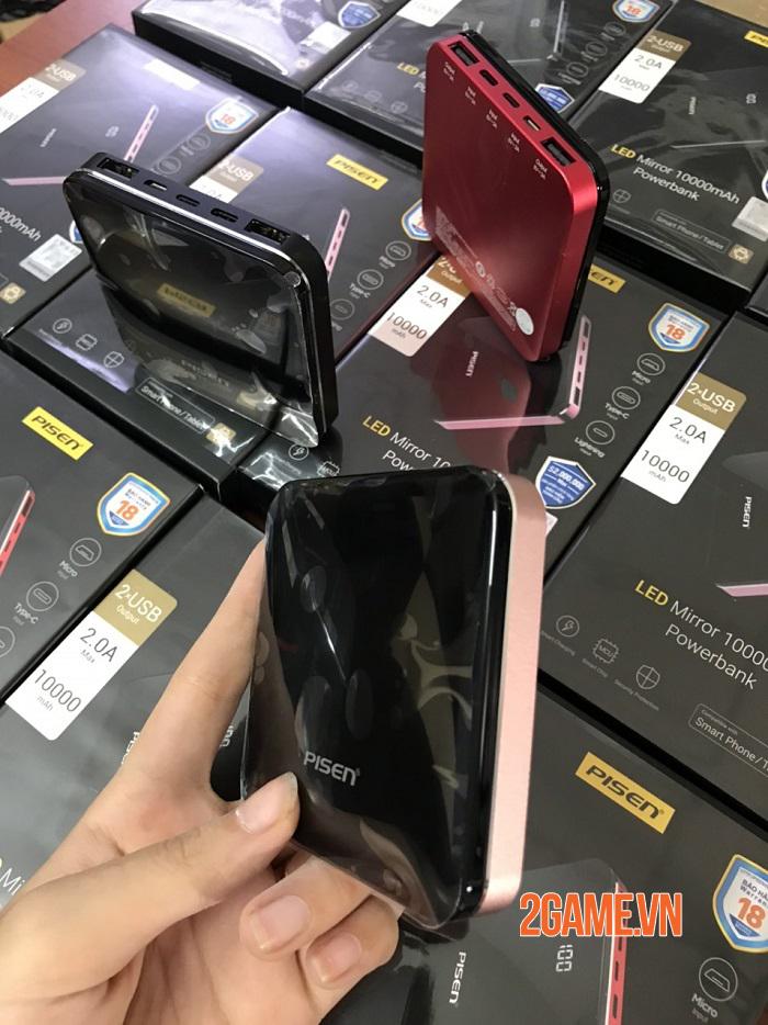 PISEN LED MIRROR 10000mah - Siêu phẩm công nghệ nhỏ gọn tinh tế 2