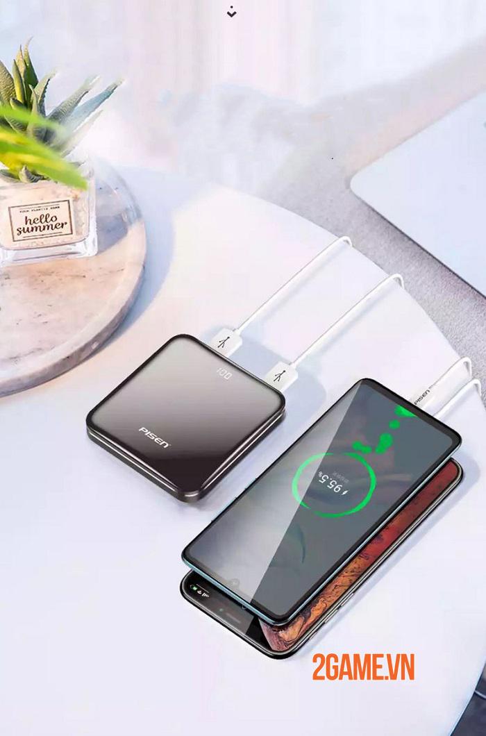 PISEN LED MIRROR 10000mah - Siêu phẩm công nghệ nhỏ gọn tinh tế 3