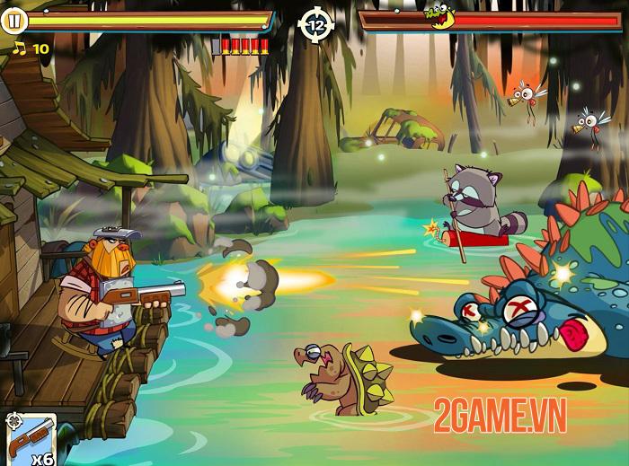 Swamp Attack 2 - Game hành động lối chơi đơn giản và thiết kế vui nhộn 1