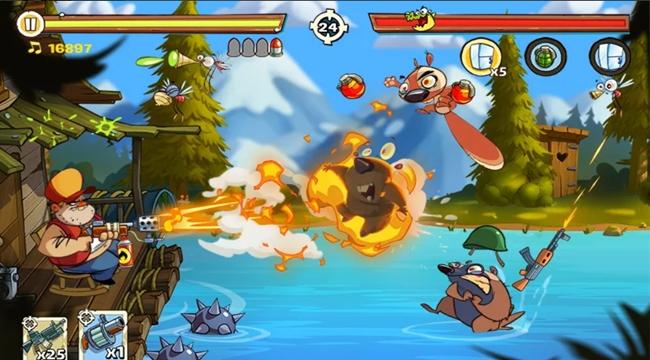 Swamp Attack 2 – Game hành động lối chơi đơn giản và thiết kế vui nhộn