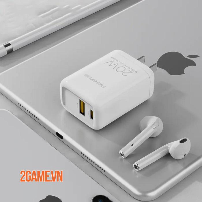 PISEN Pro Dual Port QP 20W - Loại bỏ nỗi lo không có sạc nhanh kèm theo máy iPhone 12 3