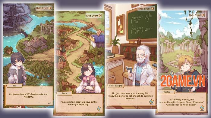 Tales of Phi - Game nhập vai chiến đấu bằng cách trả lời lệnh toán học độc đáo 1