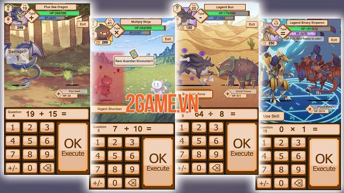 Tales of Phi - Game nhập vai chiến đấu bằng cách trả lời lệnh toán học độc đáo 2