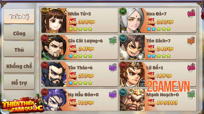 Thiên Thiên Tam Quốc - Game thẻ tướng Tam Quốc có đồ họa được thiết kế độc quyền 1