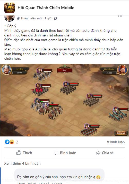 Sướng như game thủ Thành Chiến Mobile, được cả NPH và Dev chiều hết mực 3
