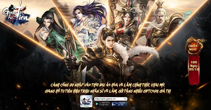 Giang Hồ Tu Tiên YGame tặng game thủ nhiều giftcode giá trị 1