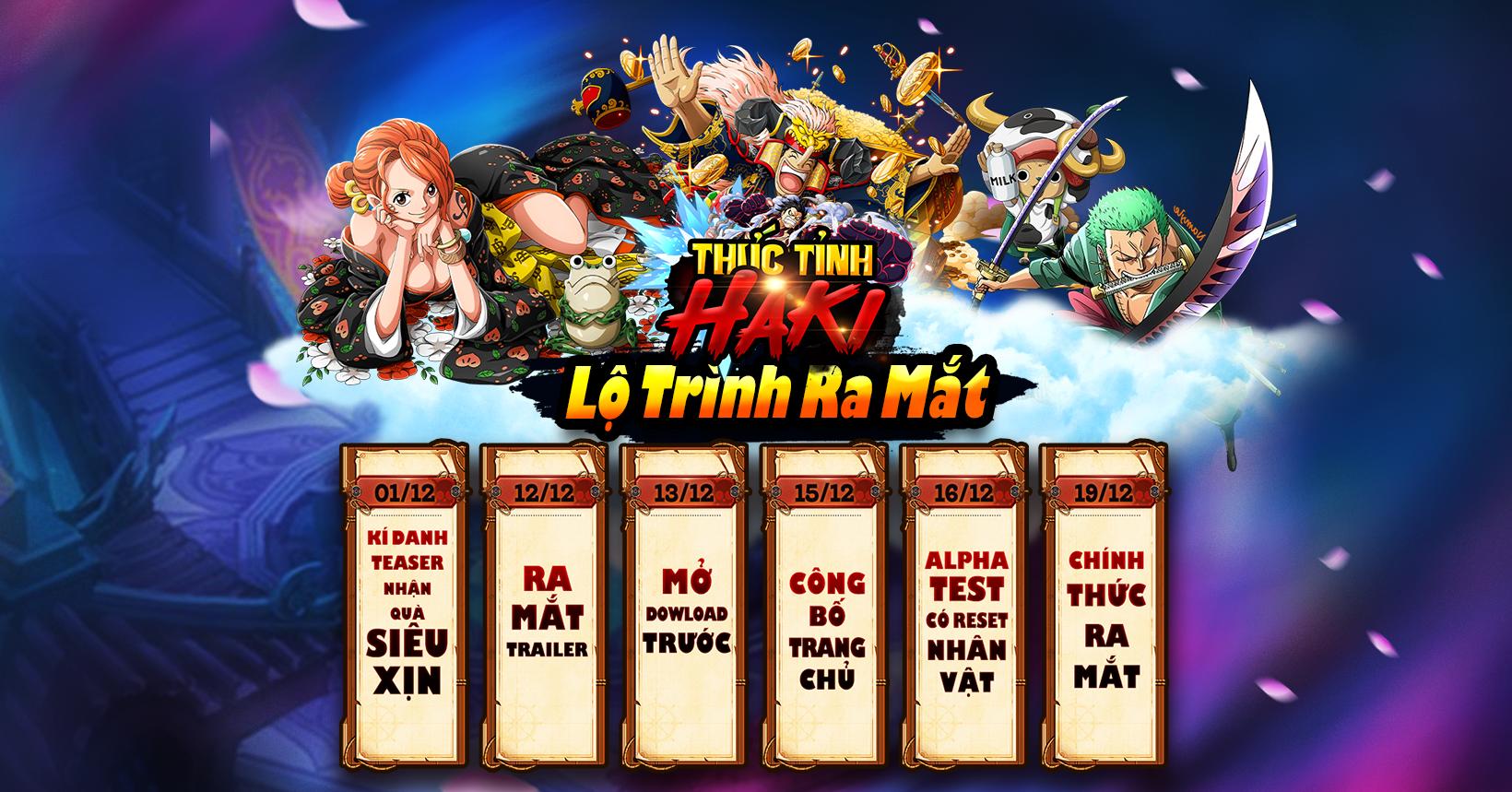 Game mobile đề tài One Piece Thức Tỉnh Haki công bố lộ trình ra mắt 0