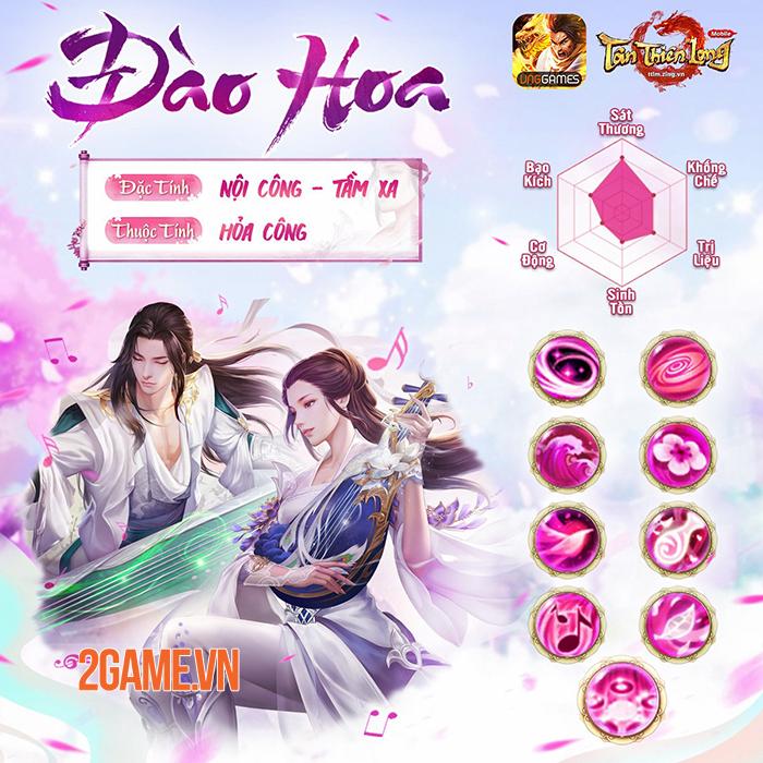 Môn phái Đào Hoa nửa chính nửa tà dễ thu hút game thủ Tân Thiên Long Mobile 3