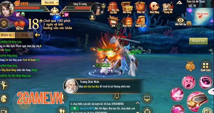 Môn phái Đào Hoa nửa chính nửa tà dễ thu hút game thủ Tân Thiên Long Mobile 4