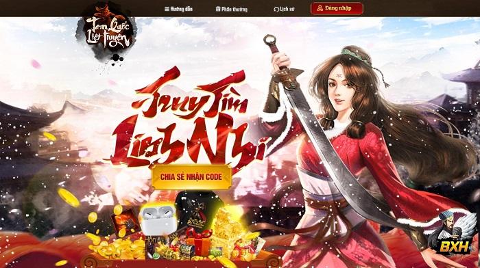 Tặng 500 giftcode game Tam Quốc Liệt Truyện 2