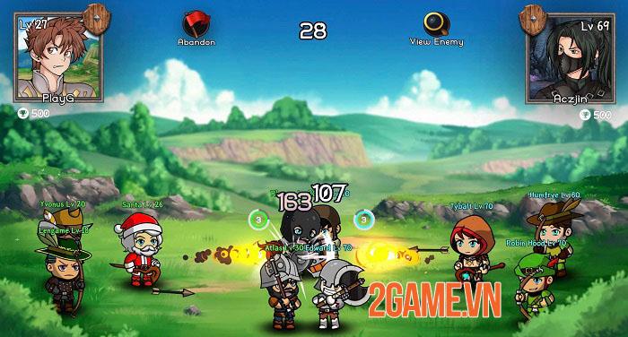 Auto Battles Online - Game idle RPG với hệ thống chiến đấu cùng 5 chiến binh 2