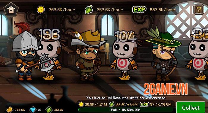 Auto Battles Online - Game idle RPG với hệ thống chiến đấu cùng 5 chiến binh 5