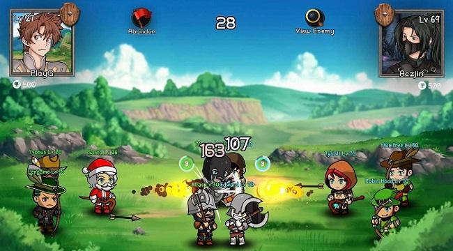 Auto Battles Online – Game idle RPG với hệ thống chiến đấu cùng 5 chiến binh