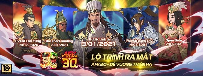 Tặng 600 giftcode game AFK 3Q - Đế Vương Thiên Hạ 0