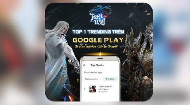 Tuyết Ưng VNG đạt #1 game nhập vai trên Google Play chỉ sau 01 ngày mở tải sớm