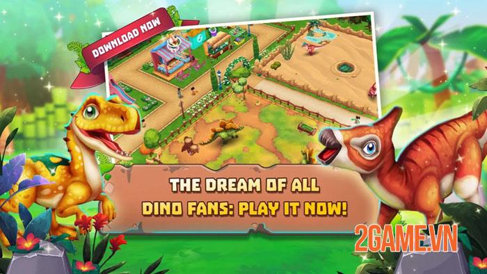 Dinosaur Park: Primeval Zoo - Game nông trại đề tài khủng long vui nhộn 3