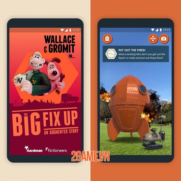 Wallace & Gromit: The Big Fix Up - Game hành động phiêu lưu công nghệ AR 0