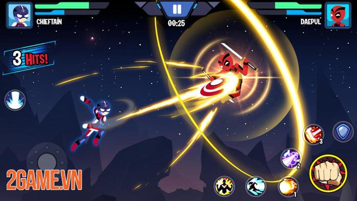 Stickman Heroes Fight - Nhẹ mà hay với người que anh hùng biến 3
