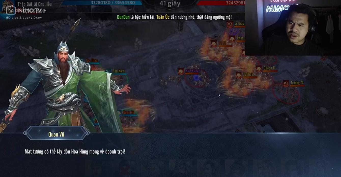 Mimosa với tình huống dở khóc dở cười khi stream Tam Quốc Liên Minh 3