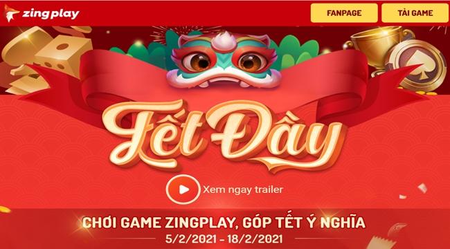 """Cổng game giải trí ZingPlay mang """"Tết Đầy"""" đến cho mọi người"""