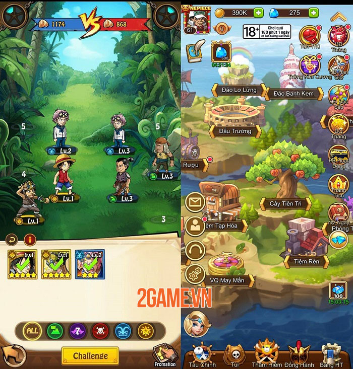 Đại Hải Trình Mobile - Cuộc phiêu lưu bất tận cùng dàn nhân vật chuẩn One Piece 1