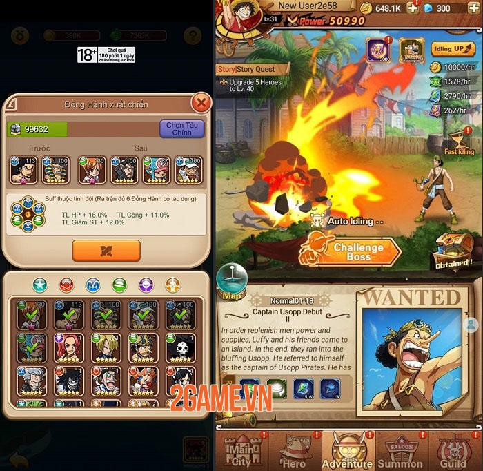 Đại Hải Trình Mobile - Cuộc phiêu lưu bất tận cùng dàn nhân vật chuẩn One Piece 2