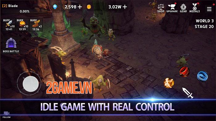 Dungeon Knight - Game Idle 3D đương đầu với những thách thức vô hạn 0