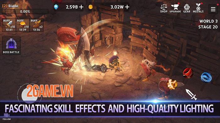 Dungeon Knight - Game Idle 3D đương đầu với những thách thức vô hạn 1