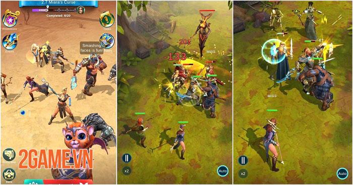 BlitZ: Rise of Heroes - Game Idle RPG màn hình dọc với 6 vị trí chiến đấu 1