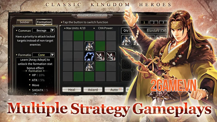 Kingdom Heroes M - Phiên bản mobile của game PC cổ điển Kingdom Heroes Online 2