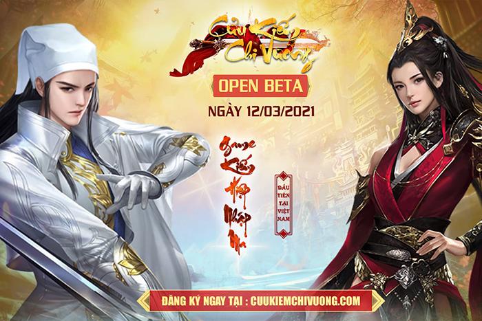 Tặng 200 giftcode siêu VIP Cửu Kiếm Chi Vương mừng Open Beta 1