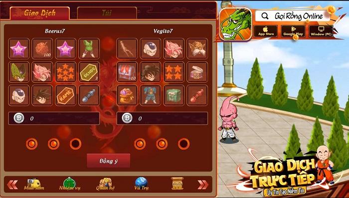 Các game thủ Gọi Rồng Online có thể giao dịch thả ga, làm giàu thoải mái 2