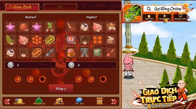 Các game thủ Gọi Rồng Online có thể giao dịch thả ga, làm giàu thoải mái