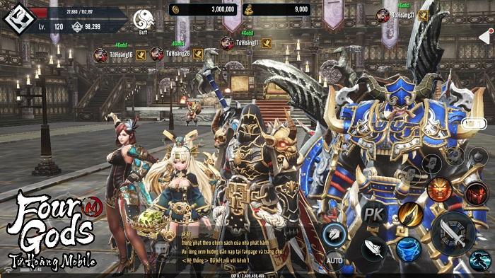 Bom tấn MMORPG xứ Hàn – Tứ Hoàng Mobile nóng đến 'tan chảy' làng game Việt 1