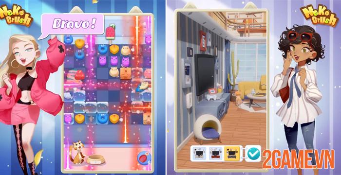 Neko Crush - Khi chăm sóc boss trở thành thử thách mới của game thủ 0